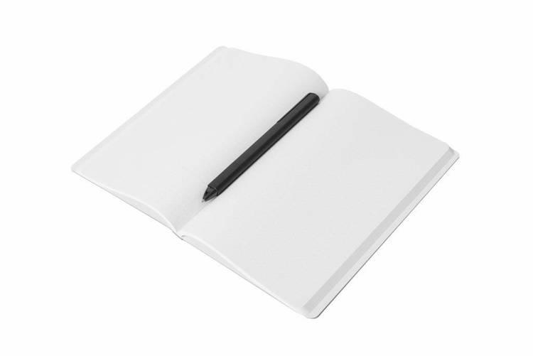 PININFARINA Segno Notebook Stone Paper, notes z kamienia, niebieska okładka, kropki